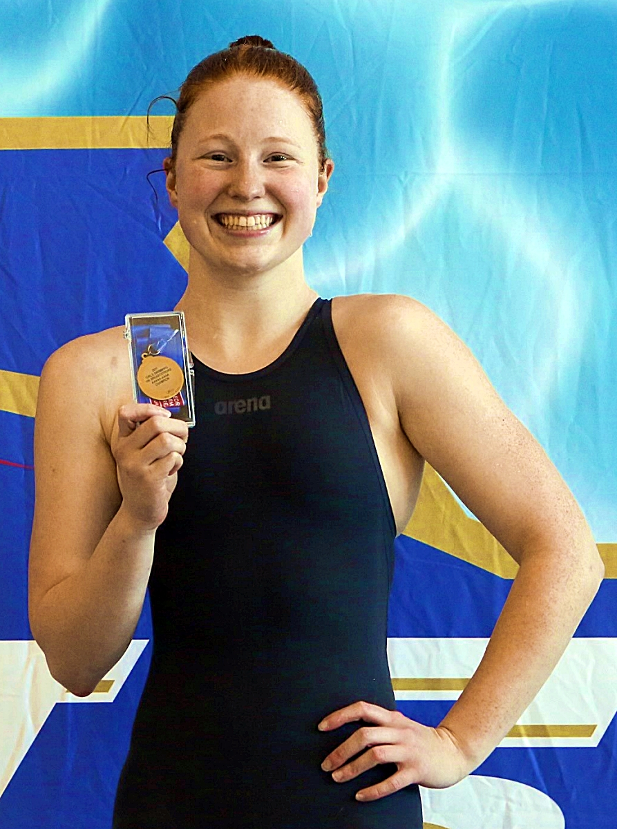 Chamblee senior Mary Adam named GHSSCA Class 4A-5A Swimmer of the Year after winning the 100 breaststroke and swimming a leg for the gold medal winning 200 medley relay team. (Courtesy Photo)