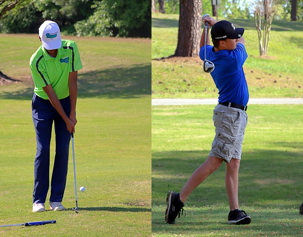 Arabia Mountain's Isaiah Fleming (left) and Chamblee's Ethan Santucci both qualified for their respective GHSA Boys' State Golf Tournaments set fro May 17-18. (Photos by Mark Brock)