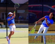 Chamblee No. 2 singles player Hap Howell and girls doubles player Kennedy Talbot are set to play Class 5A state playoffs first round matches today. (Photos by Mark Brock)