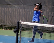 Chamblee No. 3 singles player Anaya Jatar and her Lady Bulldog teammates have a date with Woodward in the third round of the Class 5A Girls' State Tennis Tournament. (Photo by Mark Brock)