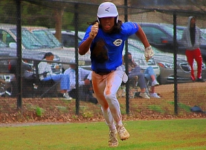 Chamblee's Sydyk Ross looks to score more runs as the Bulldogs go on the road in the Class 5A playoffs against Loganville on Wednesday. (Photo by Mark Brock)