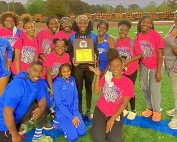 2021 DCSD JV County Girls Track and Field Champions -- Stephenson Lady Jaguars