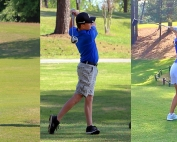 Arabia Mountain sophomore Isaiah Fleming (l-r), Chamblee junior Ethan Santucci and Chamblee sophomore Sophie Li all competed well in their respective state golf tournaments held recently.