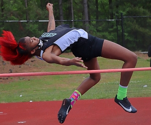 Cedar Grove's Lelah Easterly was runner-up in the high jump at the Region 5-3A Track and Field Championships. (Photo by Mark Brock)