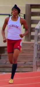 Towers Jamelia Simmons won four gold medals at the Region 6-2A Track and Field Championships. (Photo by Mark Brock)