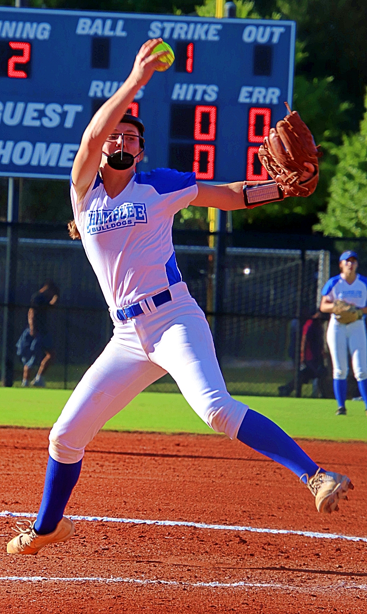 Chamblee's Margaret Axelson struck out 10 Northview batters and got her 300th career strikeout in Chamblee's 11-0 win on Senior Night. (Photo by Mark Brock)