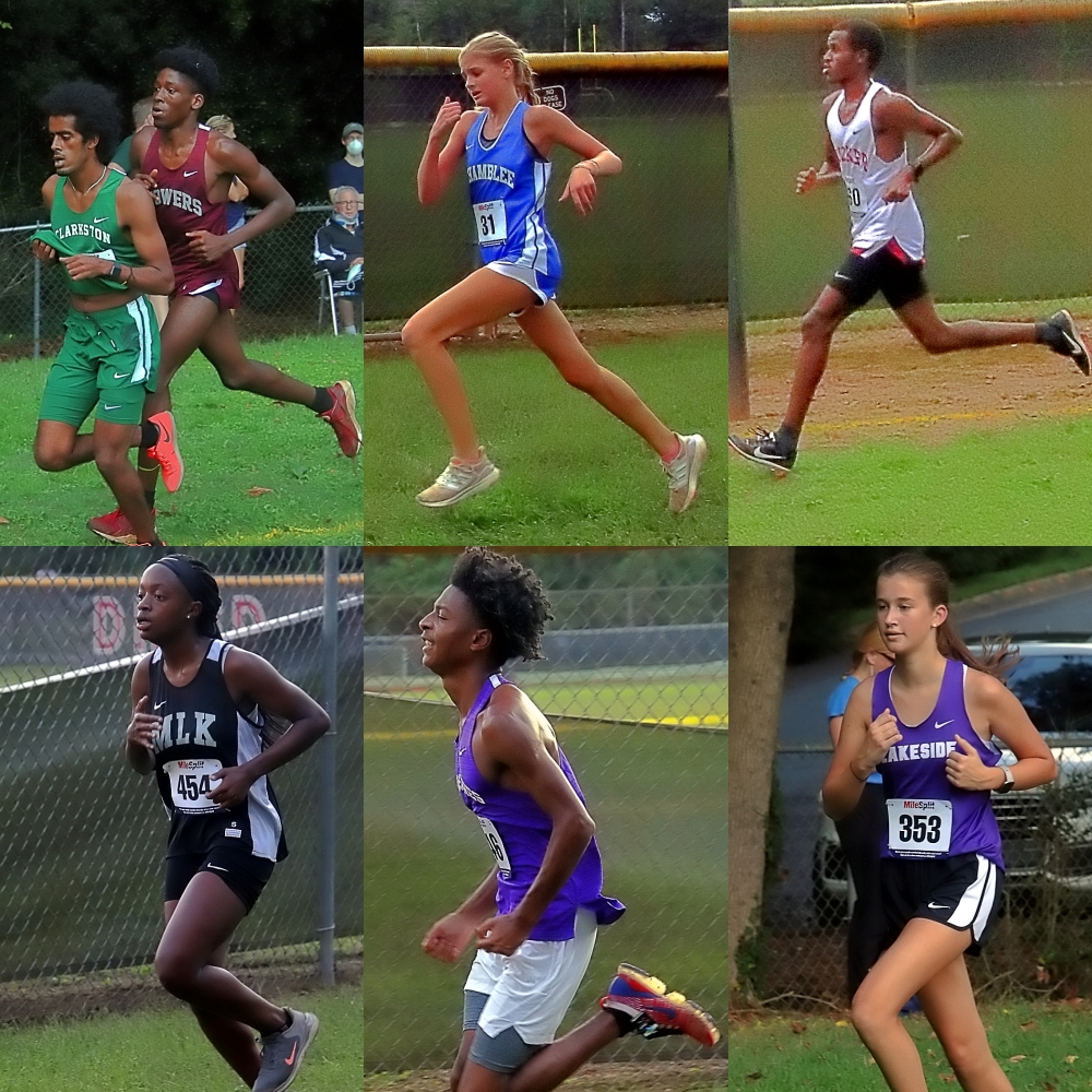 Some of the action at Tuesday's meet. (Photos by Mark Brock)