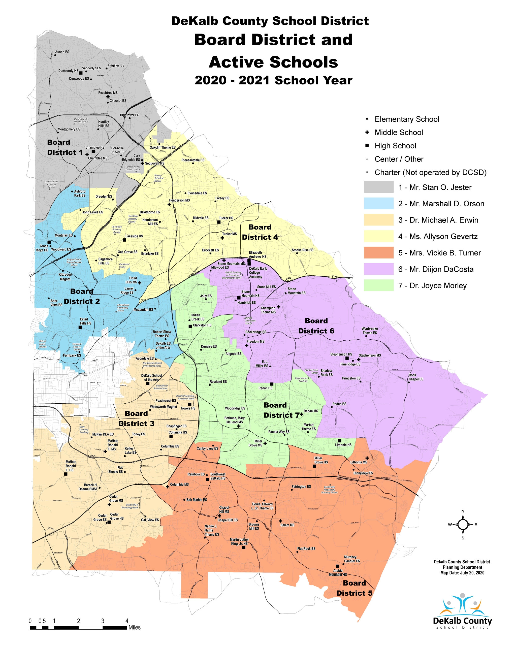 Board District Map