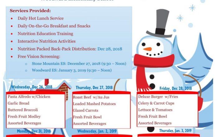 winterbreak meals brochure image