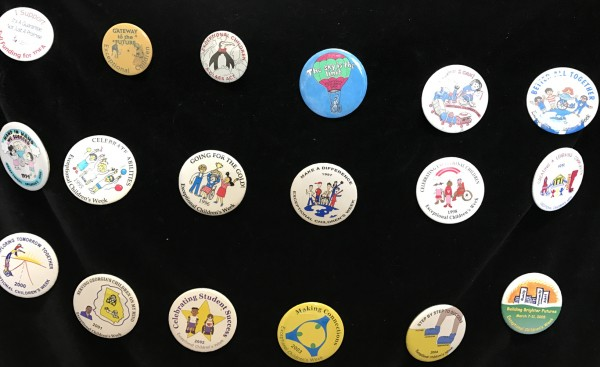 Buttons made by students