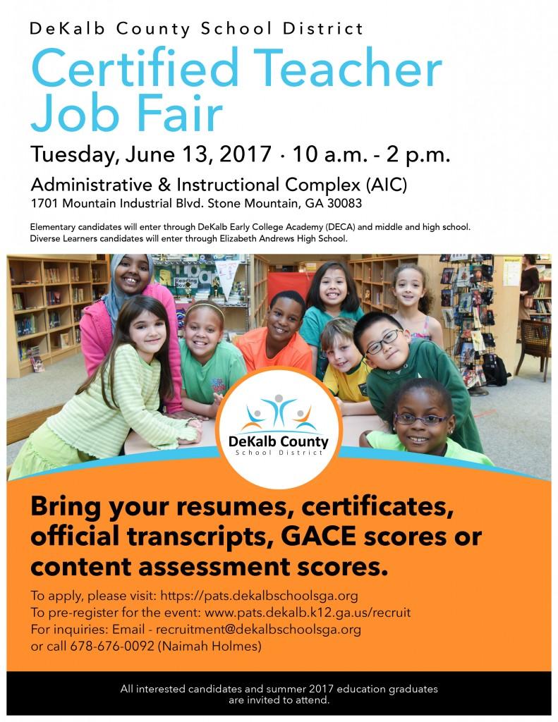 June 13 DCSD Certified Teachers Job Fair Final