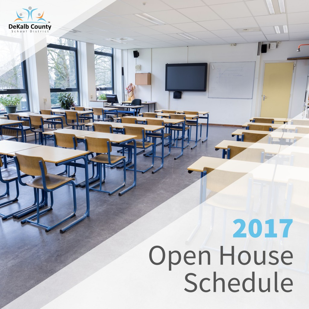 2017 Open House Schedule Graphic