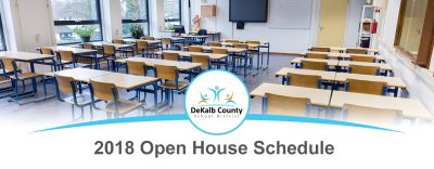 2018 Open House Schedule Banner