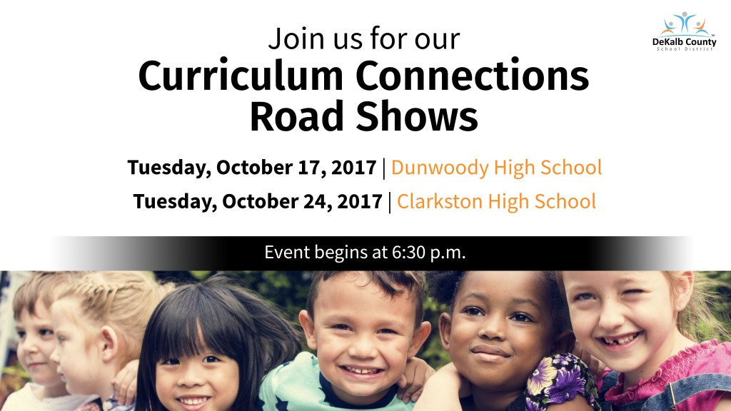 Curriculum Road Show Dates Updated