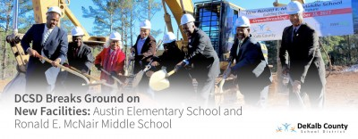 Web Banner: DCSD Breaks Ground Ronald E McNair MS