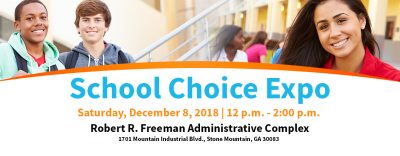 school choice expo banner
