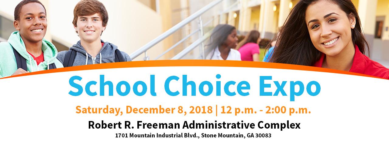 school choice expo banner