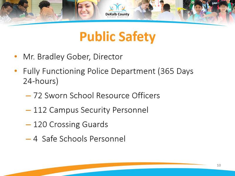 Public safety- Mr. Bradley Gober, Director