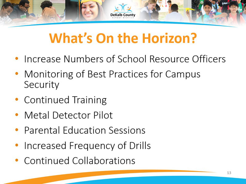 Increase Numbers of School Resource Officers and Monitoring of Best Practices for Campus Security