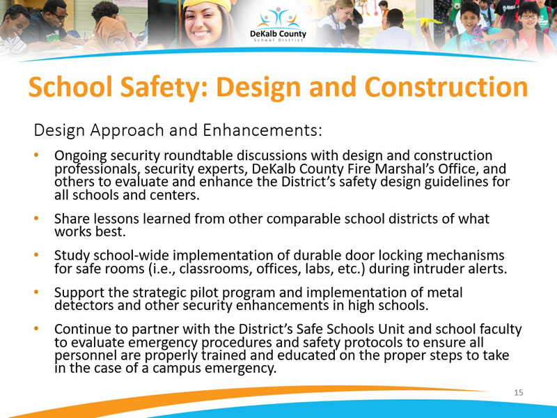 School Safety: Design and Construction | Design Approach and Enhancements