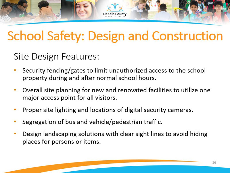 School Safety: Design and Construction | Site Design Features