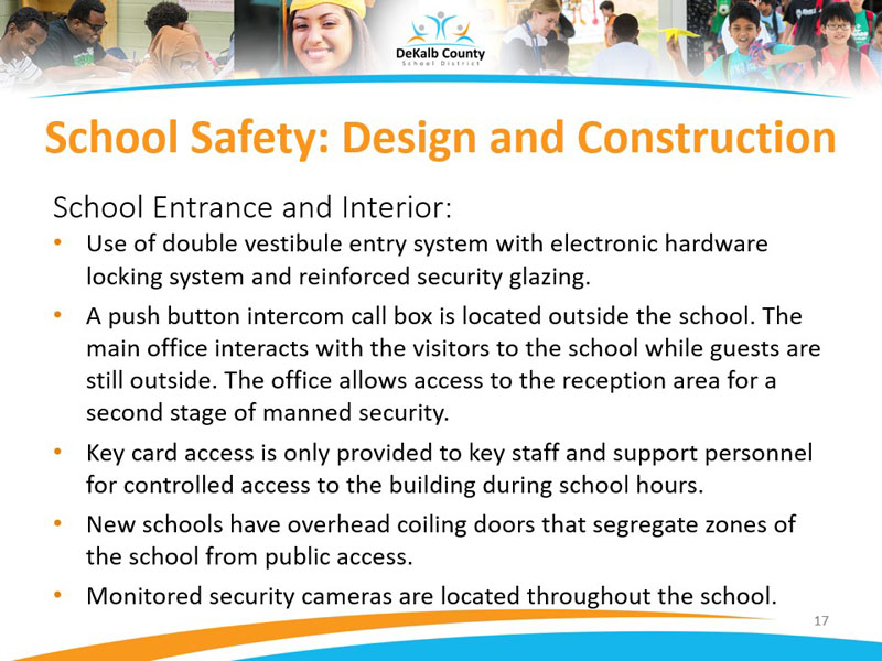 School Safety: Design and Construction | School Entrance and Interior