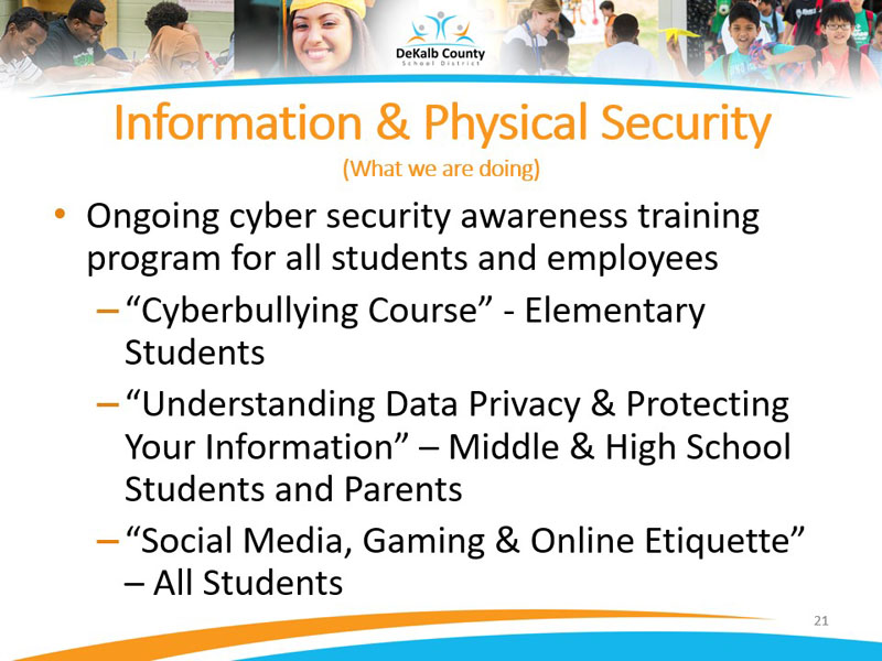Information and Physical Security | What are we doing?