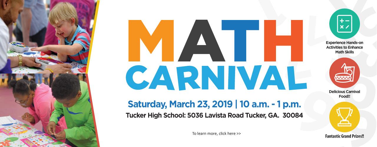 2019 math carnival web banner