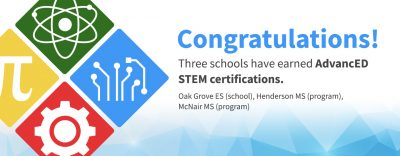 3 Schools Receive STEM Certification