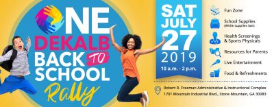 One DeKalb Back to School Rally