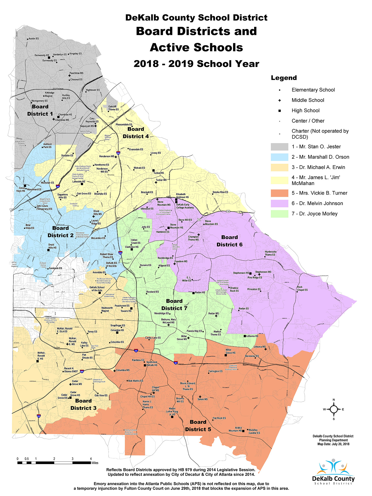 Board of education districts map