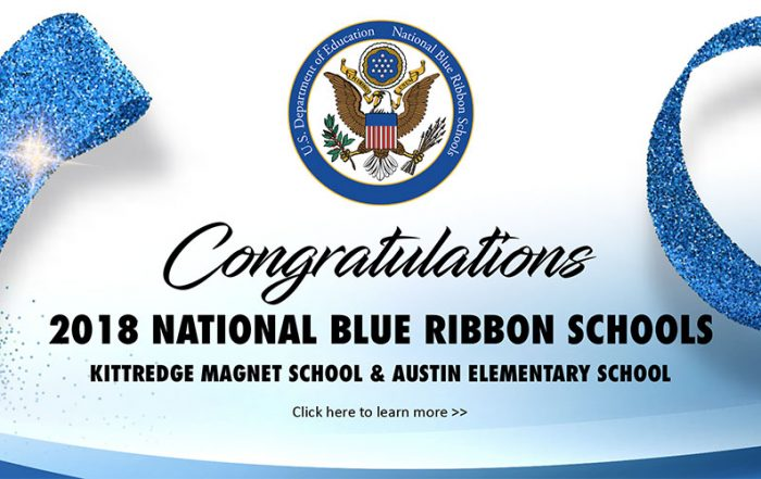2018 National Blue Ribbon Schools banner
