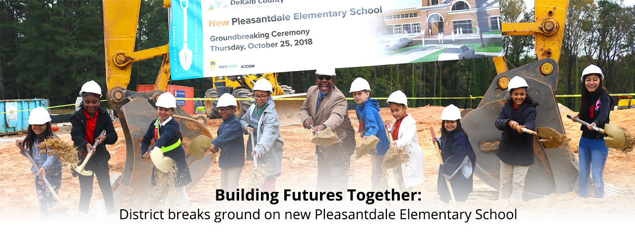 Pleasantdale groundbreak banner