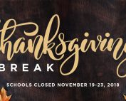 Thanksgiving Break – Schools Closed