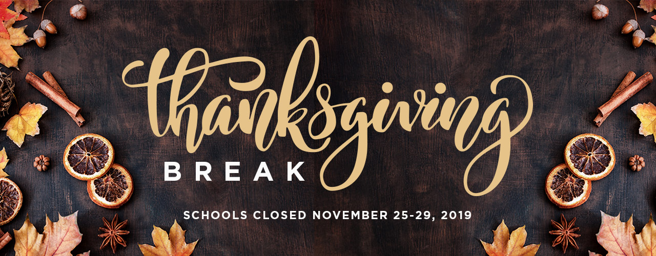Thanksgiving Break 2019 web banner