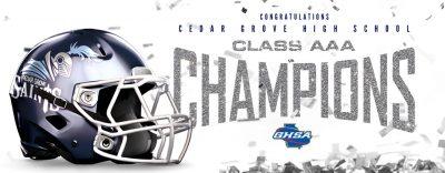 Cedar Grove Championship banner