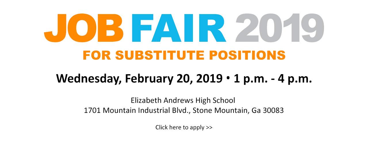 Substitute Job Fair