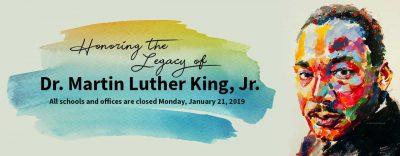 MLK Jr. Day banner
