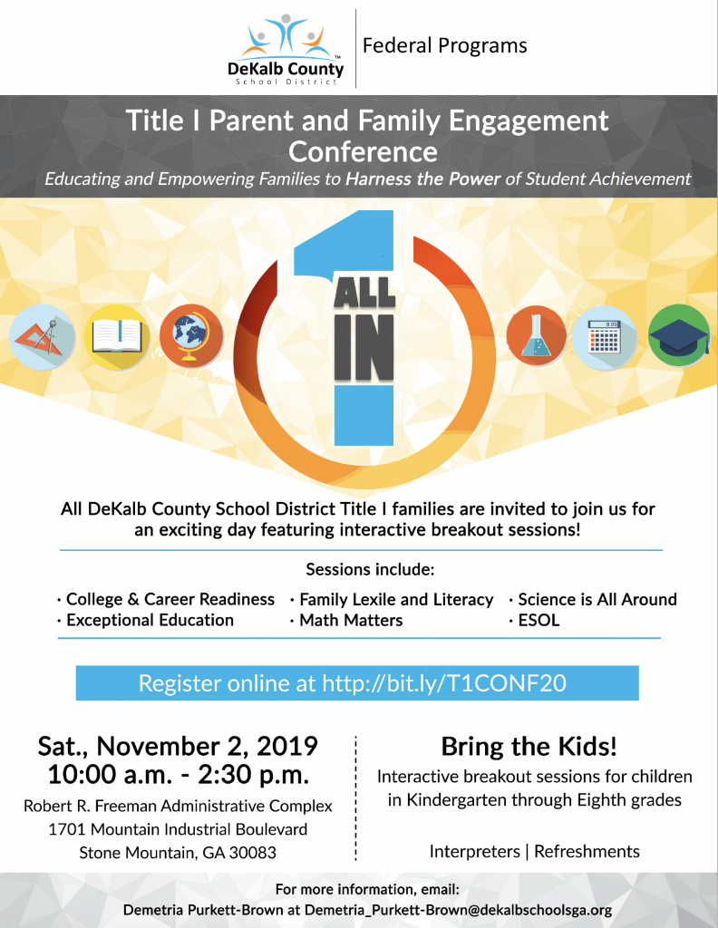 Title 1 Parent Engagement Conference 2019