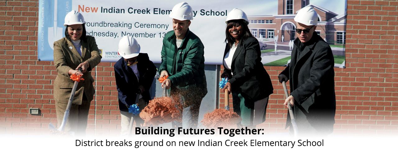 Indian Creek groundbreaking banner