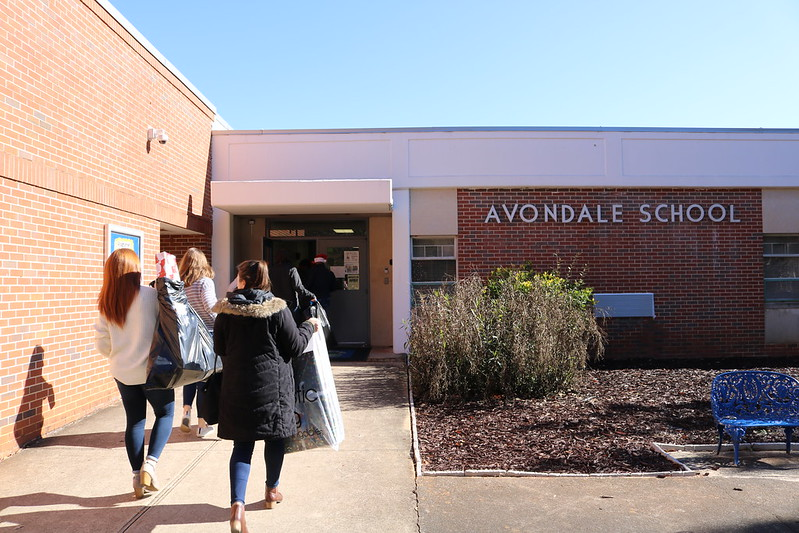 Salesforce employees walk in avondale elementary