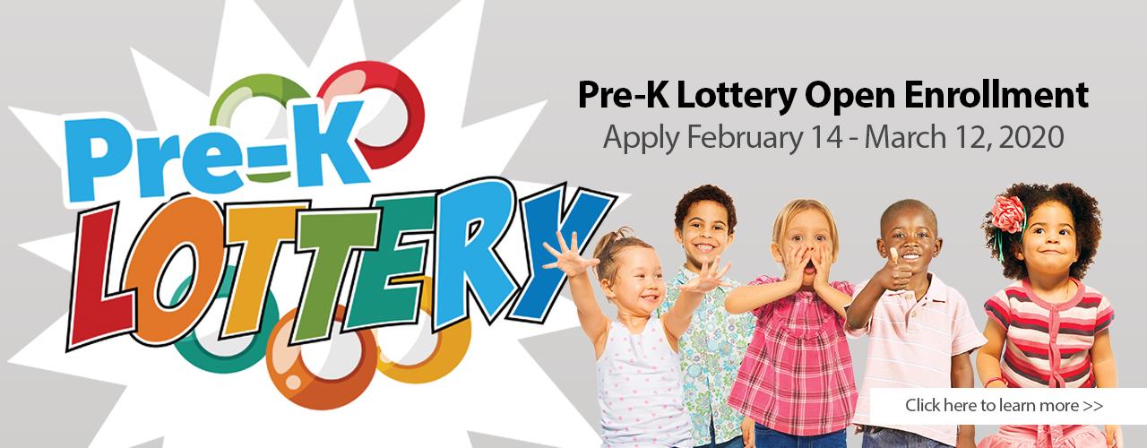 2020 Pre-K Lottery web banner