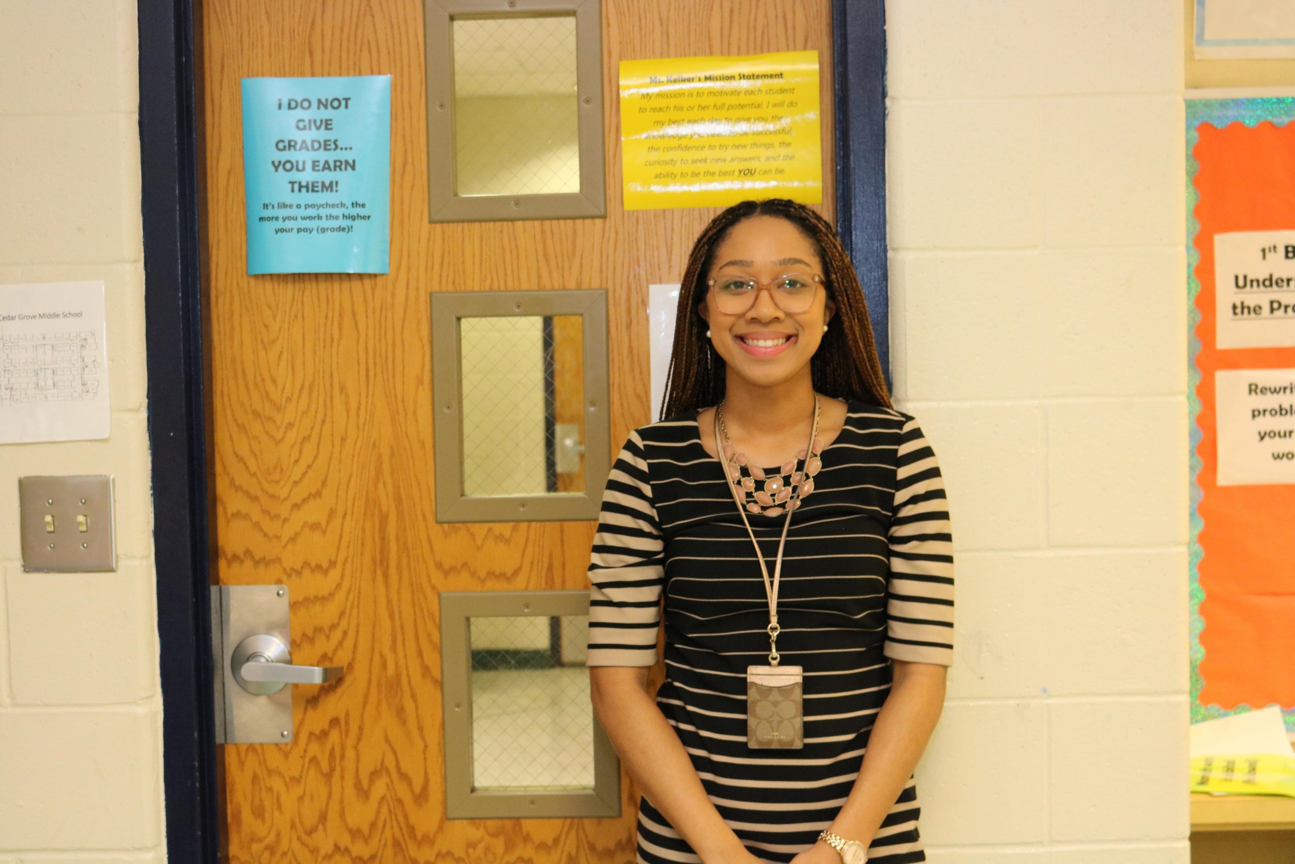 Cedar Grove Middle's Nadirah Kelker wins new educator of the year award