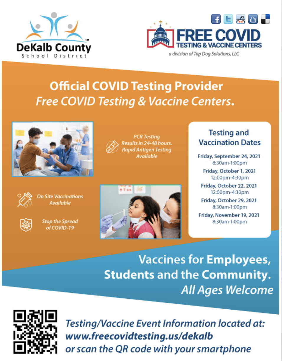 official covid testing provider flyer