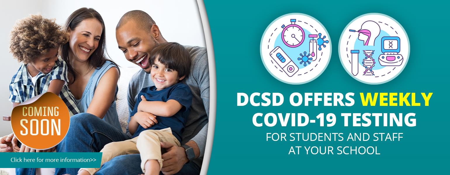weekly covid19 testing banner
